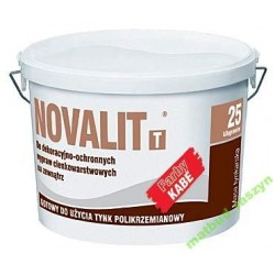 Tynk polikrzemianowy silikatowy Kabe Novalit biały 25kg