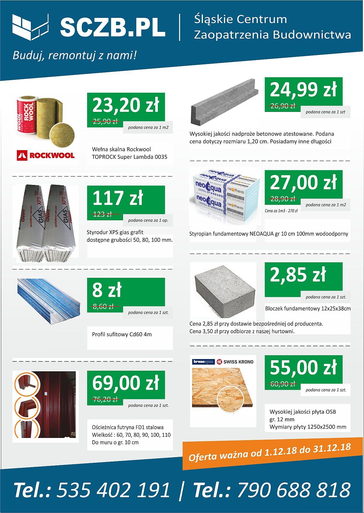 gazetka reklamowa sczb materiały budowlane